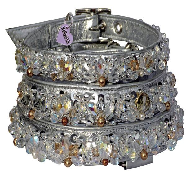 Semi-Precious decorated Dog Collars Swarovski & Crystal