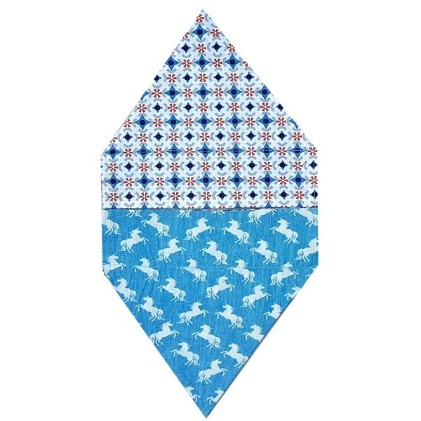'Denim' Unicorn dog Bandana