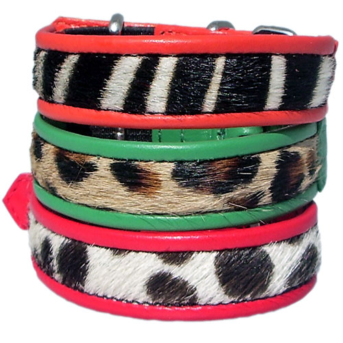 Safari Cowskin & Calf Cat Collars