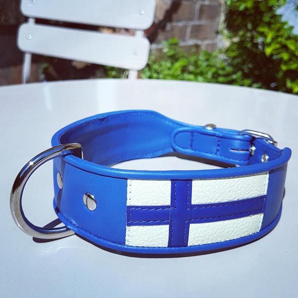 The Flag of Finland Dog Collar - Holly & Lil Collars Handmade in England