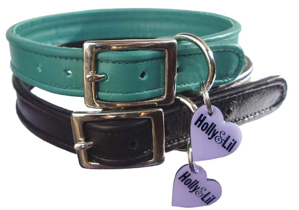 Superluxe Piped  SLIM calf leather dog collars (Made to Order)