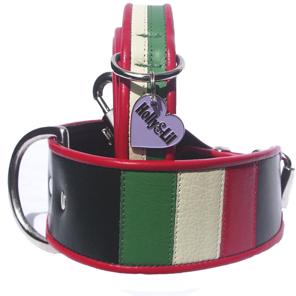 The Flag of Italy. Il Tricolore. - Holly & Lil Collars Handmade in Britain, Leather dog collars, leads & Dog harnesses.