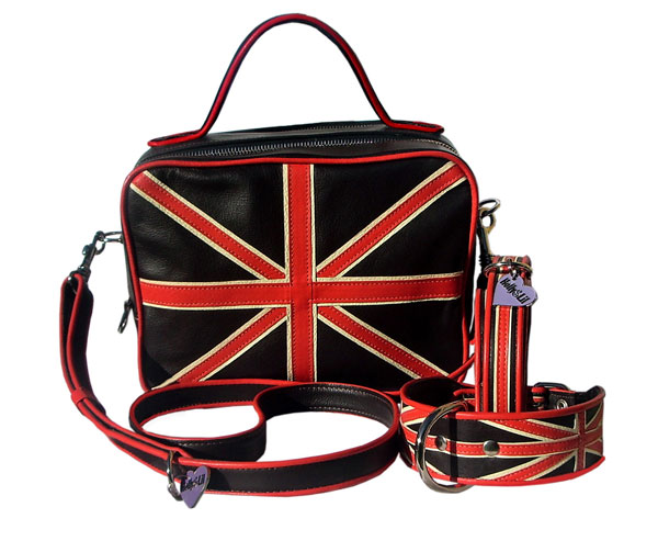 Union Jack Dog Walking Handbags<br>Dress as smartly as your dog!