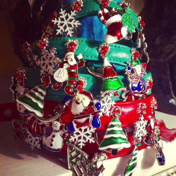 Christmas Charm Dog Collars at Holly&Lil